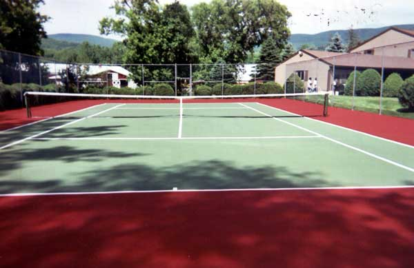 DecoTurf hard court repair by Piretti Sports
