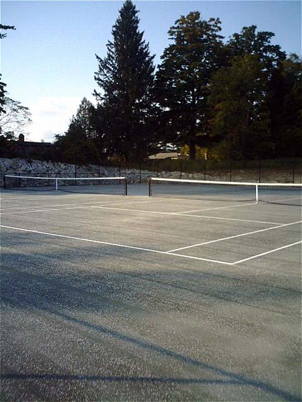 2 Northeast Fast Dry tennis courts constructed in Lanesboro, MA