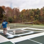 Installation of ARMOR Crack Repair System by Piretti Sports in the Berkshires.
