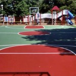 Lenox Community Center court crack repaired by Piretti Sports in the Berkshires.
