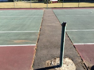 Before DecoTurf resurfacing by Dickie Piretti