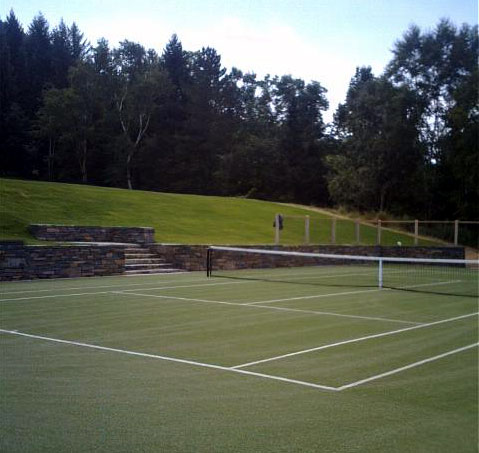 Nova tennis court by Piretti Tennis