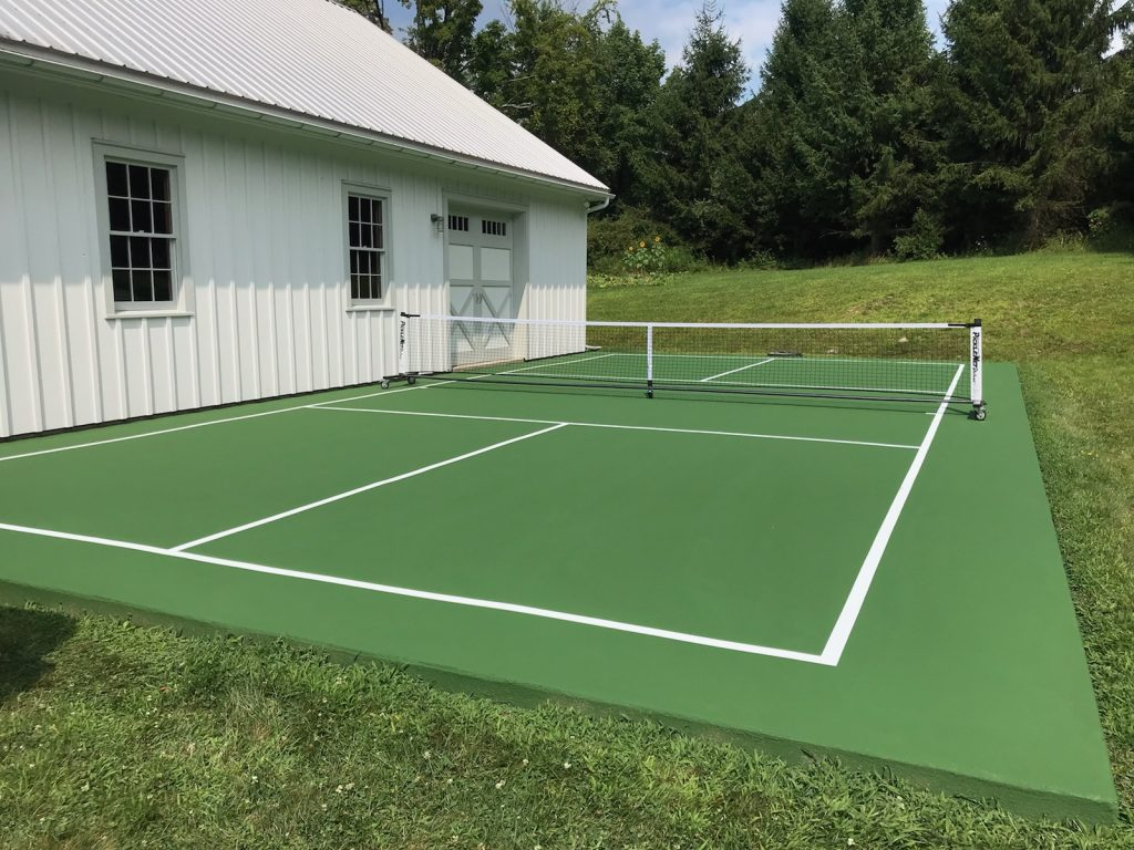 Pickleball court installed by Piretti Tennis
