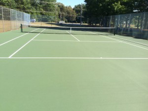 After DecoTurf resurfacing by Piretti Tennis