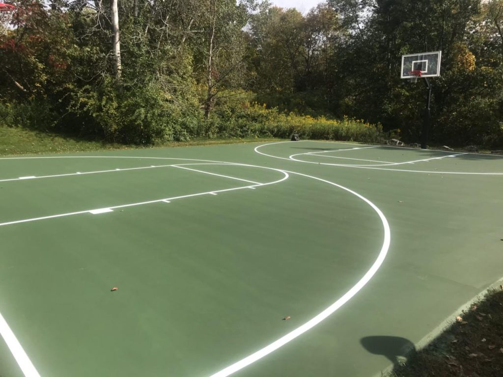 Basketball court construction by Piretti Tennis and Sports Surfacing